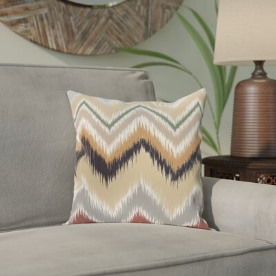 Arlington Chevron Throw Pillow Size: 20 H x 20 W, Color: Navy Blue/Taupe/Beige