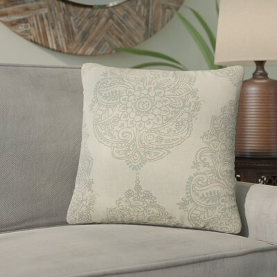 Sealey Damask Cotton Throw Pillow Color: Dark Gray