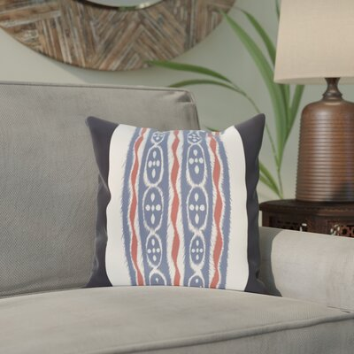Arlington Stripe Throw Pillow Size: 20 H x 20 W, Color: Navy Blue