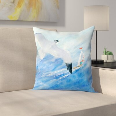 Flight and Sail Throw Pillow Size: 16 x 16