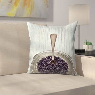 Maja Hrnjak Caviar Throw Pillow Size: 18 x 18