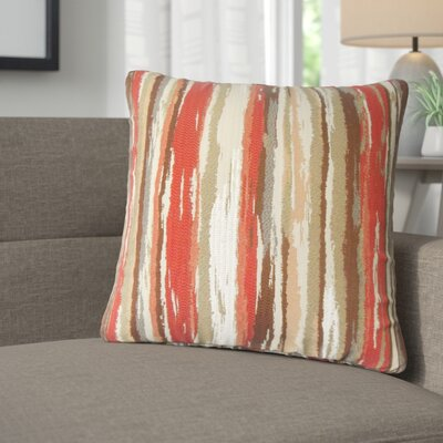 Jordynn Stripes Throw Pillow Color: Lava