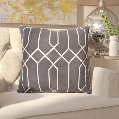 Kaivhon Geometric Linen Throw Pillow Size: 18 H x 18 W x 4 D, Color: Black