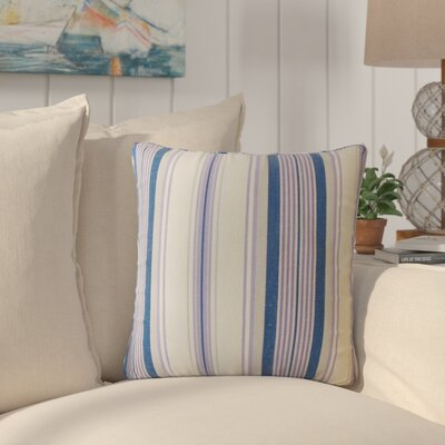Imala Striped Down Filled 100% Cotton Throw Pillow Size: 18 x 18, Color: Plum