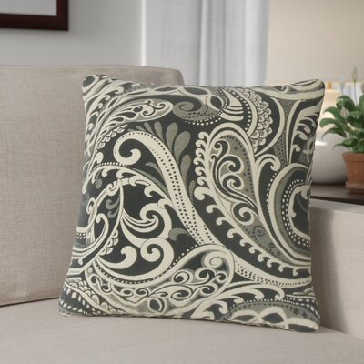 Milano Damask Throw Pillow Color: Black