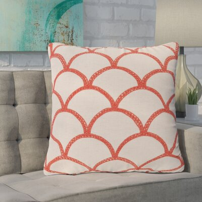 Clarklake Oval Throw Pillow Size: 22 H x 22 W x 4 D, Color: Poppy, Filler: Polyester