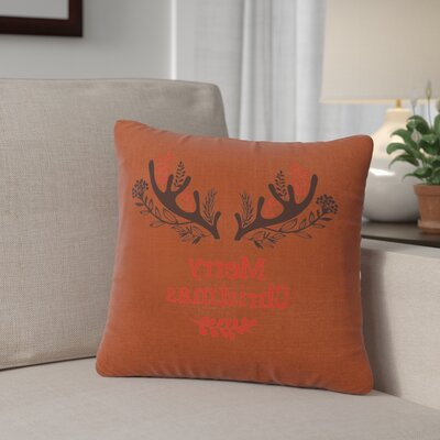 Alessi Antlers Throw Pillow Color: Paprika