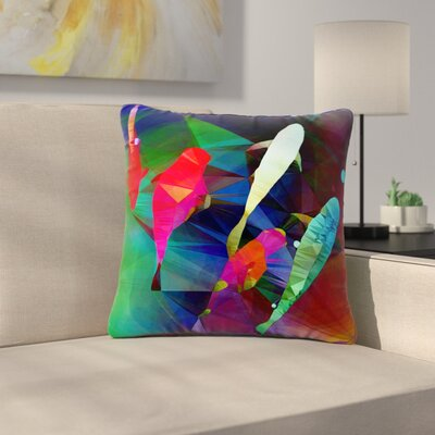 AlyZen Moonshadow Fish 2 Outdoor Throw Pillow Size: 16 H x 16 W x 5 D