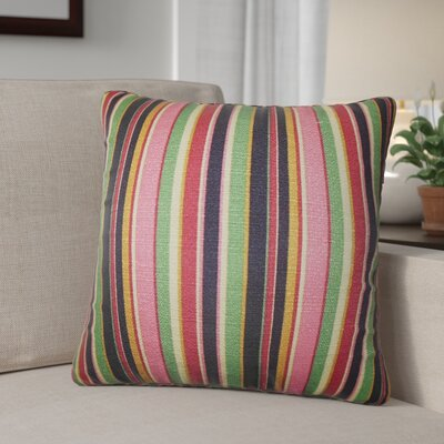 Murley Stripes Cotton Throw Pillows Color: Pink