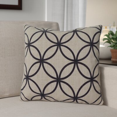 Muriel Throw Pillow Color: Black