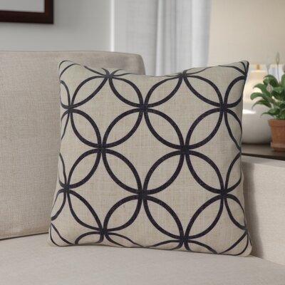 Muriel Throw Pillow Color: Black