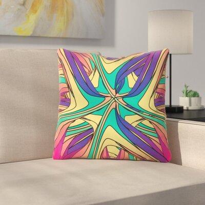 Veins by Danny Ivan Throw Pillow Size: 16 H x 16 W x 3 D