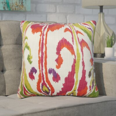 Wingfield Ikat Cotton Throw Pillow Color: Pink