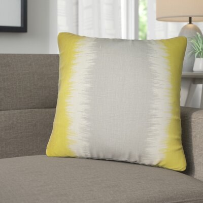 Kimora Geometric Linen Throw Pillow Color: Green