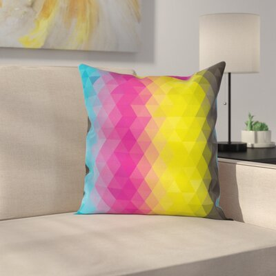 Geometric Square Pillow Cover Size: 16 x 16