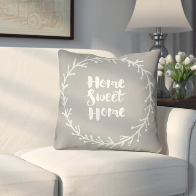 Cobleskill Outdoor Throw Pillow Size: 20 H x 20 W x 4 D, Color: Gray/Blue