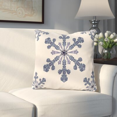 Hume Holiday Print Throw Pillow Size: 20 H x 20 W, Color: Ivory / Cream