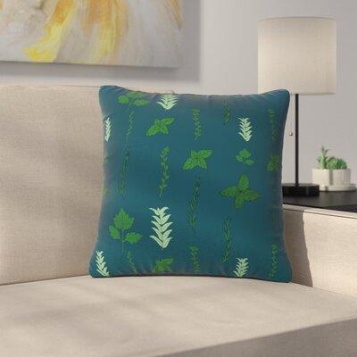 Stephanie Vaeth Herb Garden Illustration Outdoor Throw Pillow Size: 16 H x 16 W x 5 D