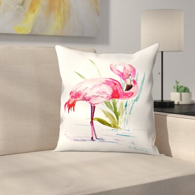 Suren Nersisyan Flamingo 1 Throw Pillow Size: 16 x 16
