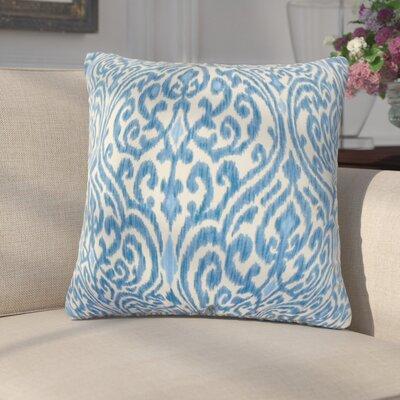 Arcelia Ikat Cotton Throw Pillow Color: Blue