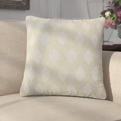 Dorotea Geometric Linen Throw Pillow Color: Tan