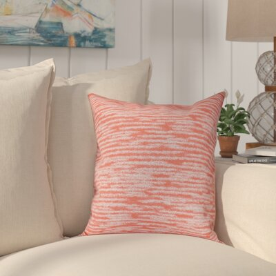 Hancock Marled Knit Geometric Print Outdoor Throw Pillow Size: 18 H x 18 W, Color: Orange