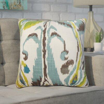 Wingfield Ikat Cotton Throw Pillow Color: Green