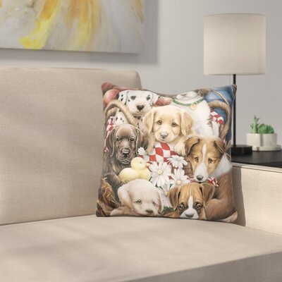 Puppy Pals Throw Pillow