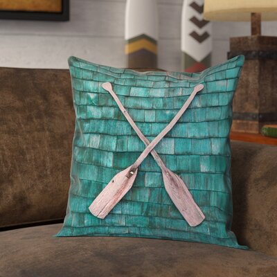 Brushton Rustic Oars 100% Cotton Pillow Cover Size: 14 x 14