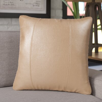 Amald Faux leather Throw Pillow Size: 20 H x 20 W, Color: Bronze