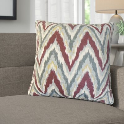 Saniyah Zigzag Cotton Throw Pillow Color: Currant
