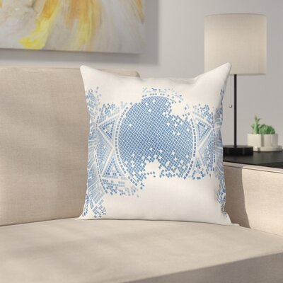 Modern Geometric Square Pillow Cover with Zipper Size: 24 x 24