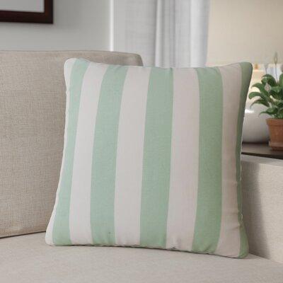 Grossman Striped Cotton Throw Pillow Color: Seafoam