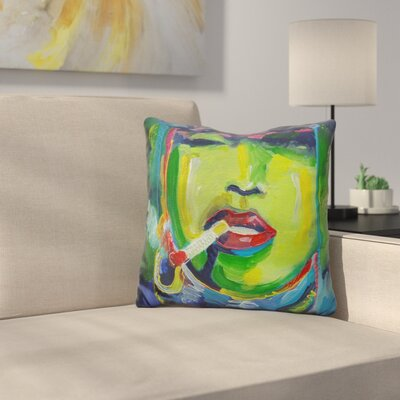 Smoking Throw Pillow
