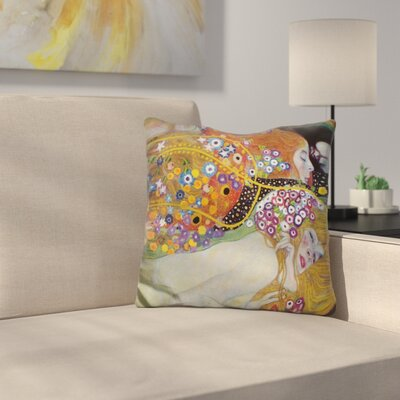 Water Serpents Throw Pillow