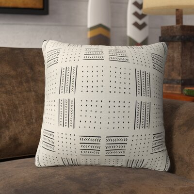 Couturier Geometric Throw Pillow with Zipper Color: Ivory, Size: 18 H x 18 W