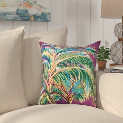 Granata Vacation Floral Throw Pillow Size: 26 H x 26 W, Color: Purple