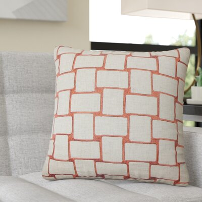 Quackenbush Geometric Throw Pillow Color: Orange