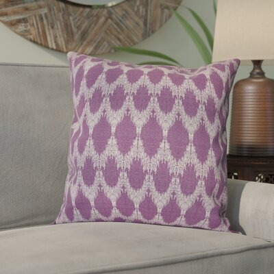 Arlo Geometric Outdoor Throw Pillow Size: 18 H x 18 W, Color: Purple