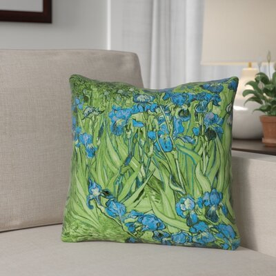 Morley Irises Indoor/Outdoor Throw Pillow Color: Blue/Green, Size: 18 x 18