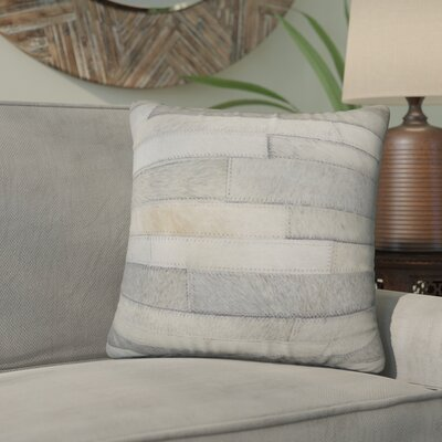 Graham Leather Throw Pillow Color: Grey