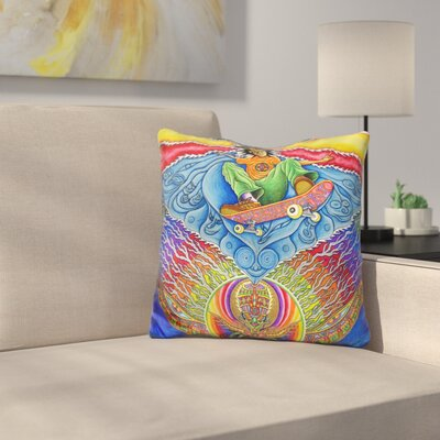 Skateboard Spirituality Throw Pillow