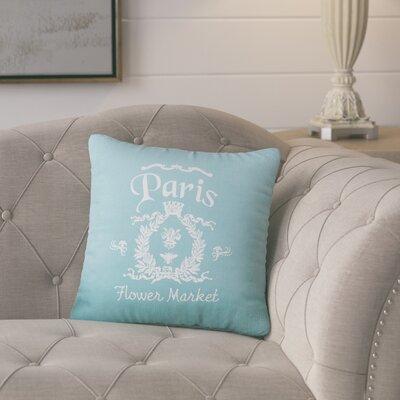 Circee Flower Market Cotton Throw Pillow Color: Aqua