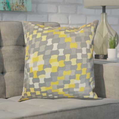 Hubbs Cotton Throw Pillow Color: Canary, Size: 18x18