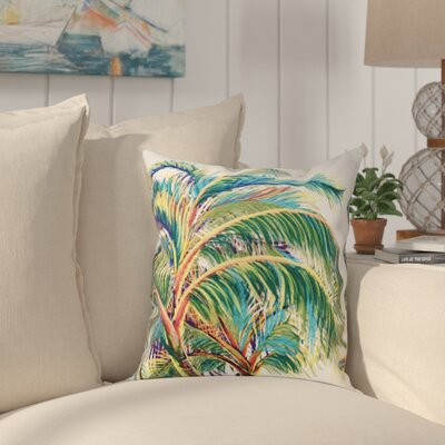 Pinkfringe Outdoor Throw Pillow Size: 18 H x 18 W, Color: White