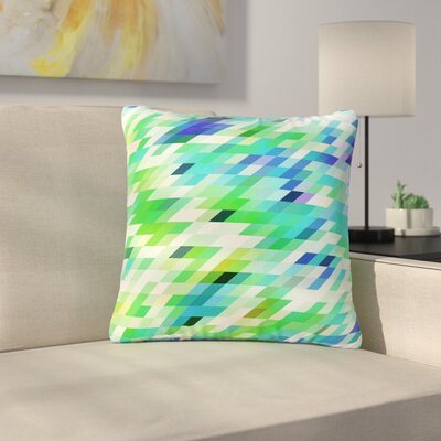 Dawid Roc Colorful Summer Geometric Abstract Outdoor Throw Pillow