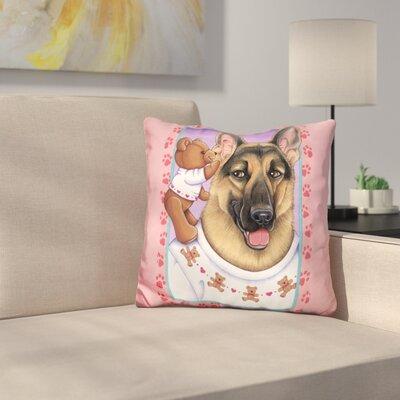 Shepherd Teddybear Throw Pillow