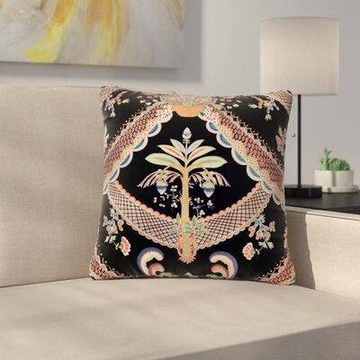 Philip Brown Vintage Paisley Pattern Art Deco Outdoor Throw Pillow Size: 16 H x 16 W x 5 D