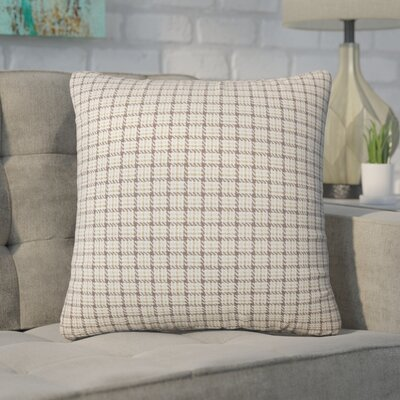 Wojcik Plaid Cotton Throw Pillow Color: Toffee