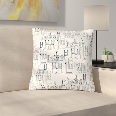 Stephanie Vaeth Tables & Chairs Abstract Outdoor Throw Pillow Size: 16 H x 16 W x 5 D